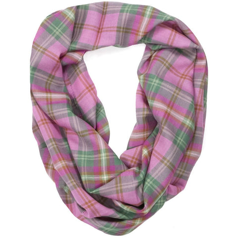 Kames Check Fine Wool Infinity Scarf