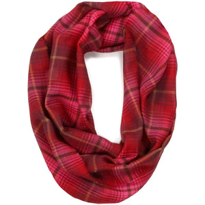 Lauriston Check Fine Wool Infinity Scarf