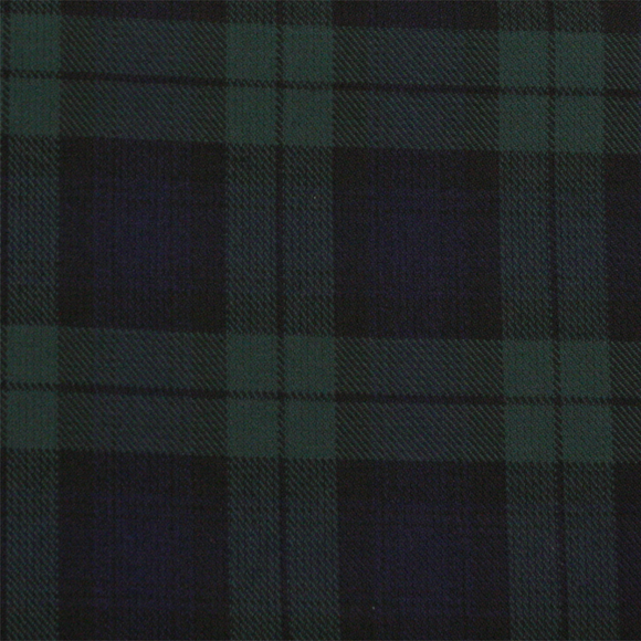 Black Watch Tartan Poly Viscose Cloth