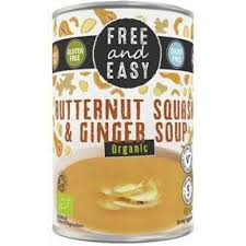 Free & Easy Organic Butternut Squash and Ginger Soup