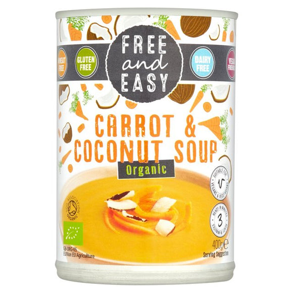 Free & Easy Organic Carrot and Coconut Soup