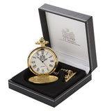 Gold Fleur De Lis Quartz Pocket Watch