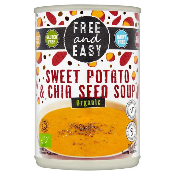 Free & Easy Organic Sweet Potato and Chia Seed Soup