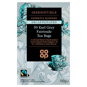 Co Op Fairtrade Decaf Earl Grey Tea
