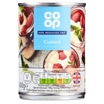 Co-op Reduced Fat Custard 400g
