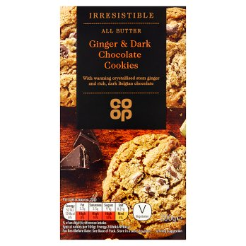 Co Op Dark Chocolate Ginger Cookies 200g