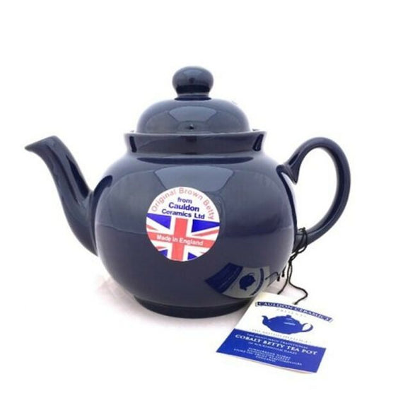 Cobalt Betty 4 Cup Teapot (Brown Betty)