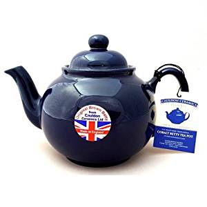 Cobalt Betty 6 Cup Teapot (Brown Betty)