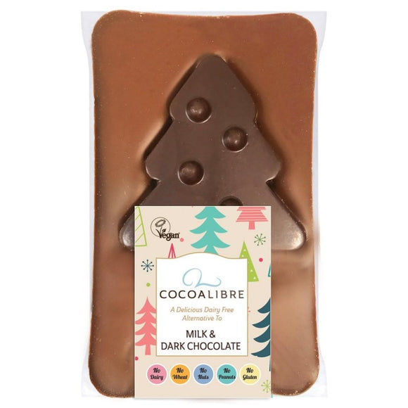Cocoa Libre Dairy Free Milk & Dark Chocolate Tree Slab