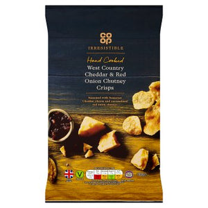 Co Op Irresistible West Country Cheddar & Red Onion Crisps 150g
