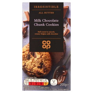Co Op All Butter Milk Chocolate Chunk Cookies