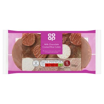 Co Op Milk Chocolate Rice Cakes