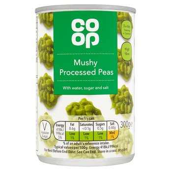 Co-op Mushy Peas 300g