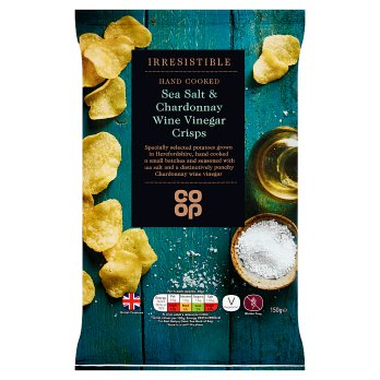 Co Op Irresistible Sea Salt &  Chardonnay Wine Vinegar Crisps