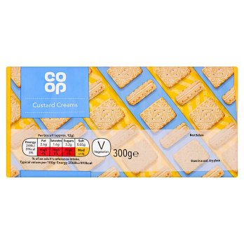 Co Op Custard Creams 300g
