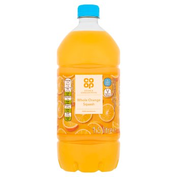 Co Op Double Concentrate NAS Orange Squash