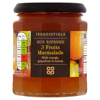 Co Op Irresistable Three Fruit Marmalade 340g