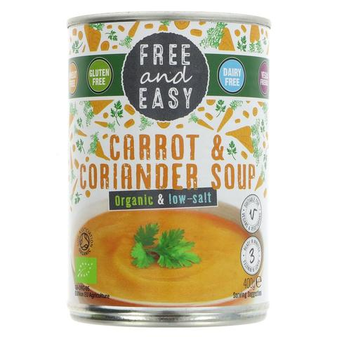 Free & Easy Organic Carrot and Coriander Soup