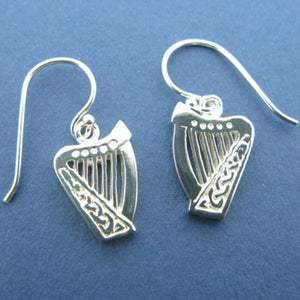 Celtic Harp Drop Earrings