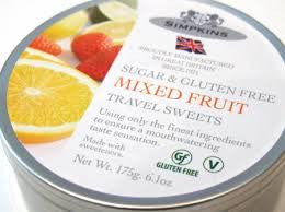 Simpkins Sugar & Gluten Free Mixed Fruit Drops Travel Sweets