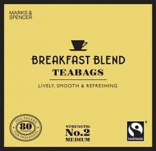 Marks & Spencer Breakfast Blend Teabags
