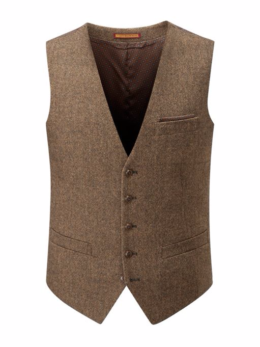 Dalton Brown Donegal Waist Coat