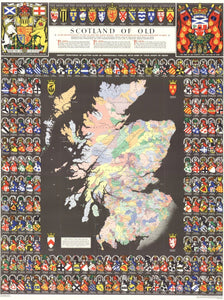 Scotland of Old Clan Map