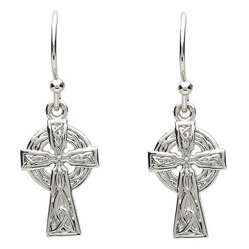 PlatinumWare Celtic Cross Earrings