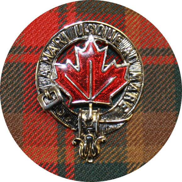 Maple Leaf Enamel Cap Badge