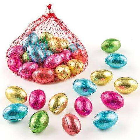 Crest Milk Chocolate Eggs in Nets