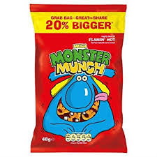 Walker's Monster Munch Mega Flamin Hot