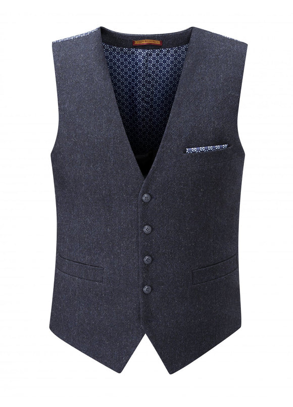 Dalton Navy Donegal Waist Coat
