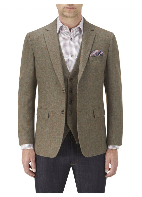 Burns Sage Check Tweed Jacket