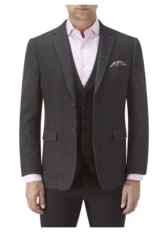 Burns Charcoal Check Tweed Jacket