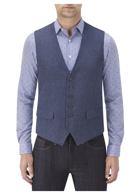 Kinloch Blue Tweed Waist Coat