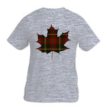 Tartan Maple Leaf Youth T-Shirt