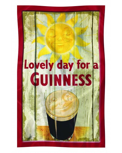 Guinness Smiling Pint Nostalgia Teal Towel