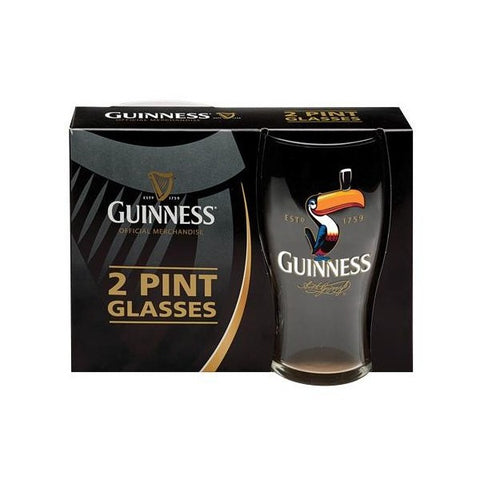 Guinness Toucan Pint Glass Set of 2