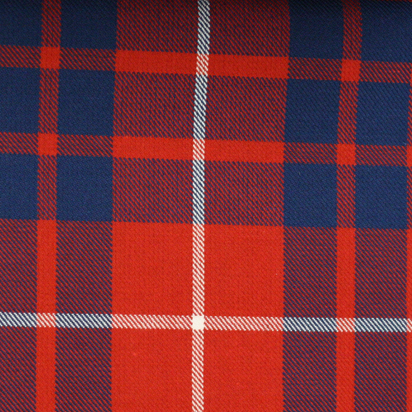 Hamilton Red Tartan Poly Viscose Cloth