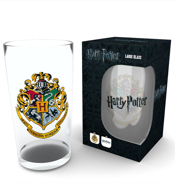 Harry Potter Hogwarts Crest Glass