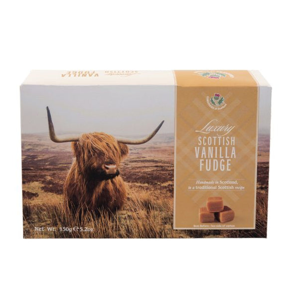 Highland Cow Vanilla Fudge Carton