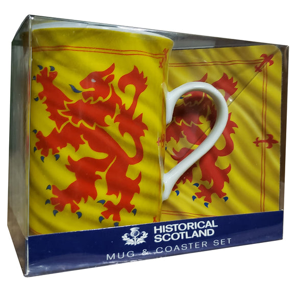 Lion Rampant Mug and Coaster Set