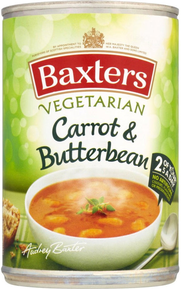 Baxter's Vegetarian Carrot and Butterbean Soup
