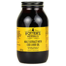 Potters Herbals Malt Extract Cod Liver Oil
