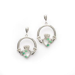 Claddagh Part Set Silver Earrings