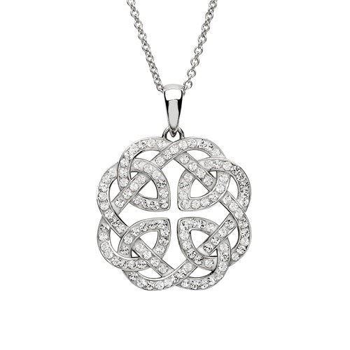 Swarovski Crystal Celtic Necklace