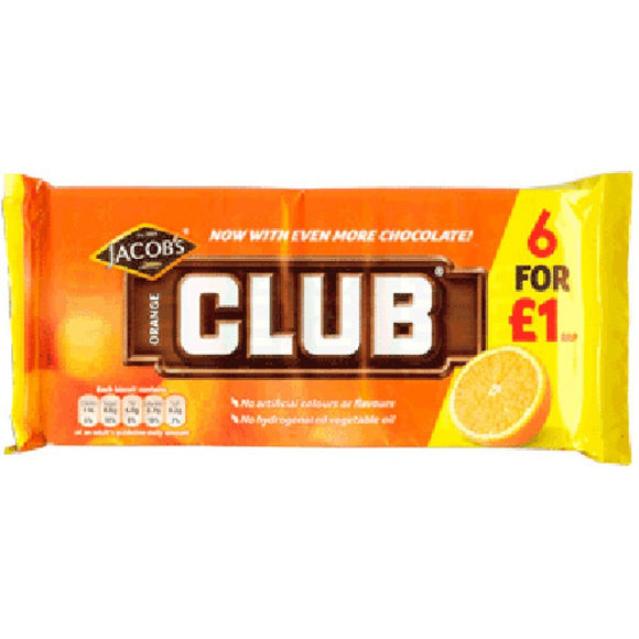 Jacob's Club Orange 6PK (McVitie's)