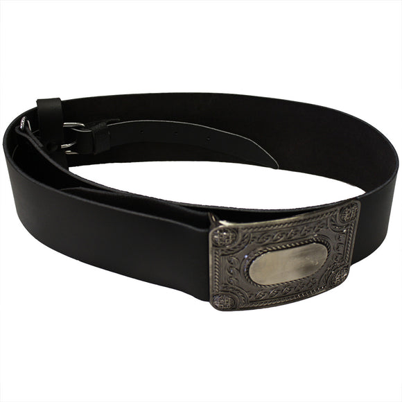 Kilt Belt and Pewter Buckle