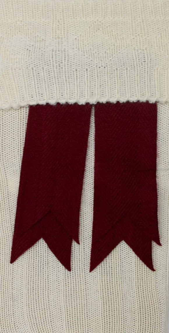 Maroon Wool Flashes