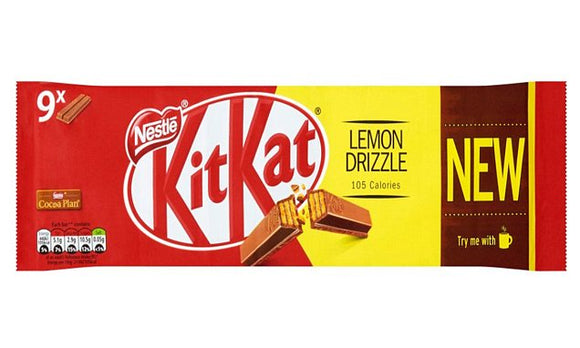 Nestle Kit Kat 2 Finger Lemon Drizzle 9pk